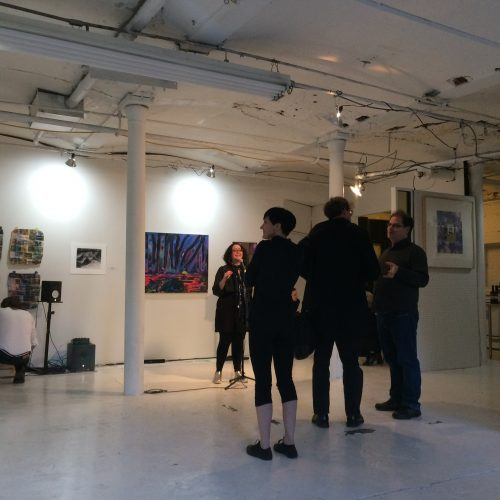 Setting up at Taaffe Gallery
