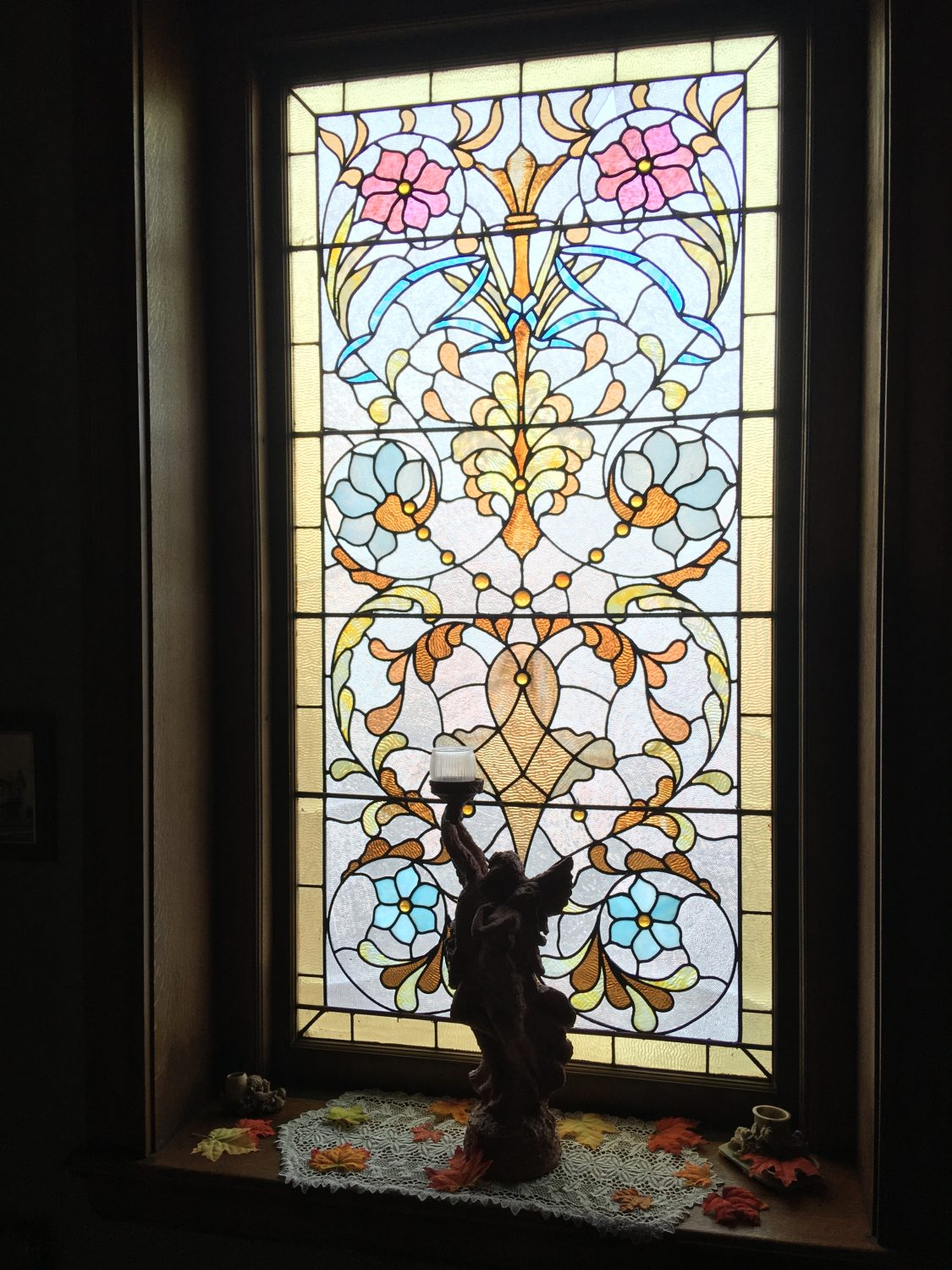 Stained Glass at the Spencer-Silver Mansion