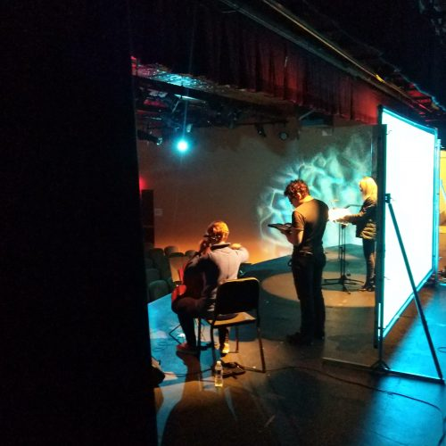 Tech Rehearsal [Kate Dillingham, Moises Estrada, Melissa Grey]