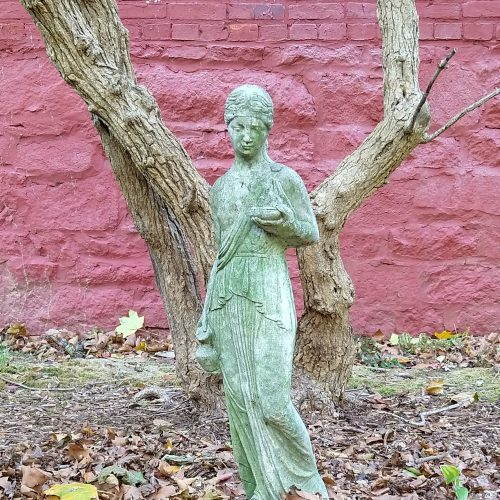 Statue at the Spencer-Silver Mansion