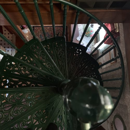 Carriage House stairs at the Spencer-Silver Mansion