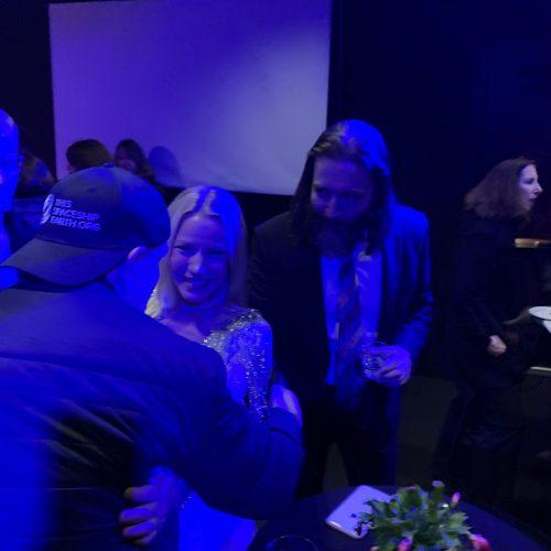 Post concert reception [Ed Kirkbride, Melissa Grey, David Morneau]