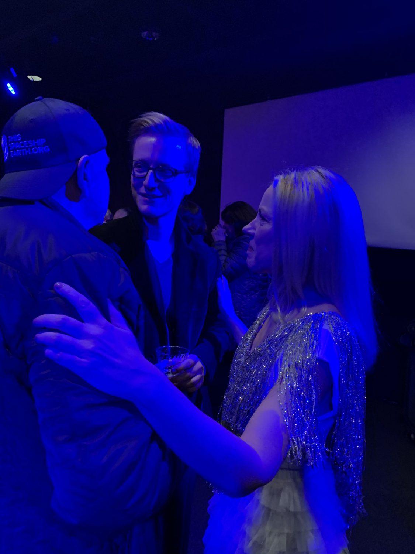 Post concert reception [Ed Kirkbride, Marc Fiaux, Melissa Grey]