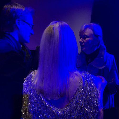 Post concert reception [Marc Fiaux, Melissa Grey]