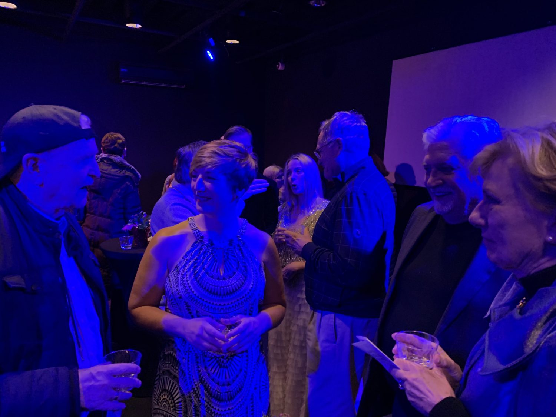 Post concert reception [Ed Kirkbride, Kate Dillingham]