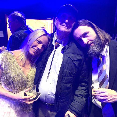 Post concert reception [Melissa Grey, Ed Kirkbride, David Morneau]