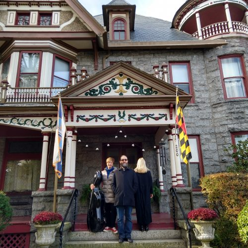 Kate Dillingham, David Morneau, & Melissa Grey at the Spencer-Silver Mansion