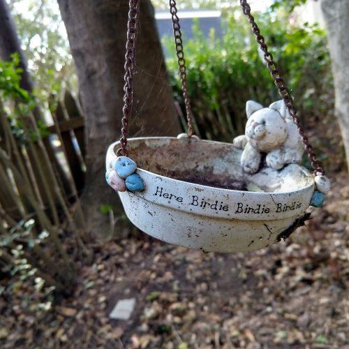 Bird feeder at the Spencer-Silver Mansion